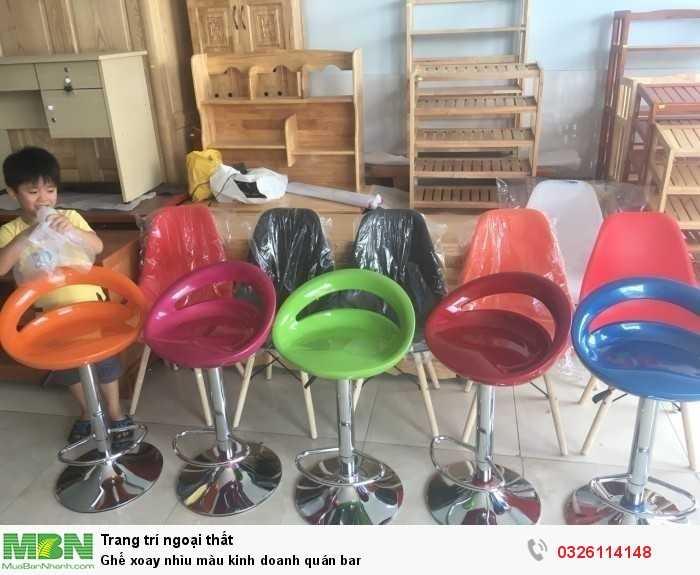Ghế xoay nhìu màu kinh doanh quán bar