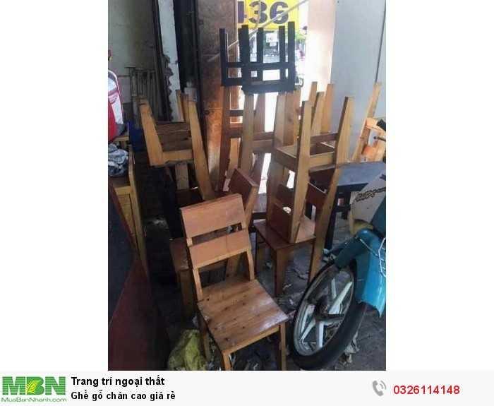 Ghế gỗ chân cao giá rẻ