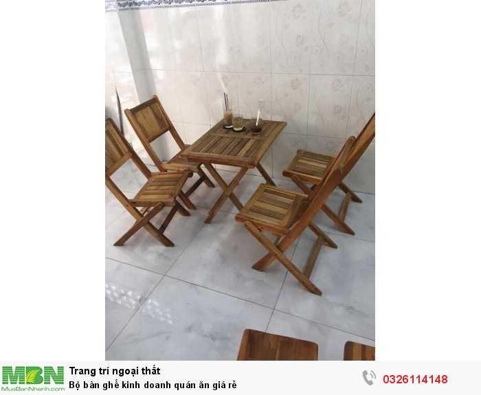 Bộ bàn ghế kinh doanh quán ăn giá rẻ