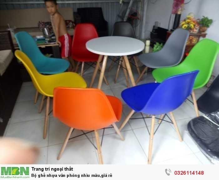 Bộ ghế nhựa văn phòng nhìu màu,giá rẻ