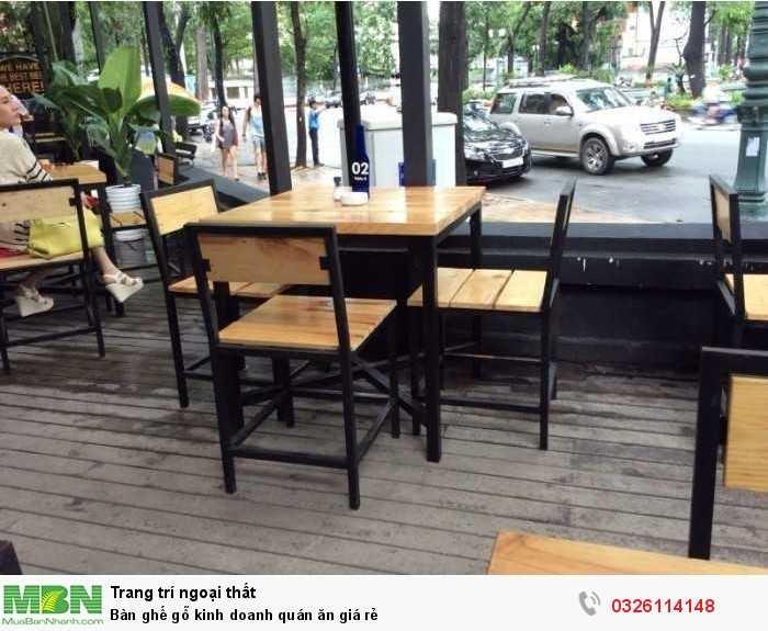 Bàn ghế gỗ kinh doanh quán ăn giá rẻ