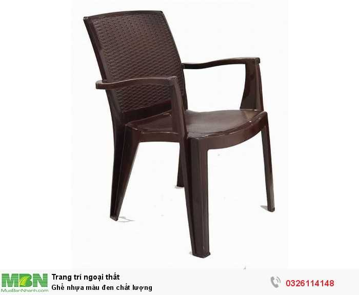 Ghế nhựa màu đen chất lượng