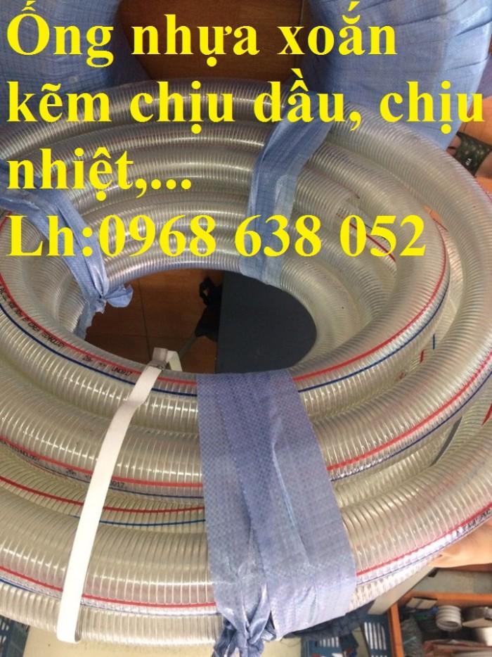 Ống PVC lõi thép(kẽm) hút hóa chất D20, D25, D27, D32, D34, D38, D40, D42, D48, D50, D60, D76, D9017