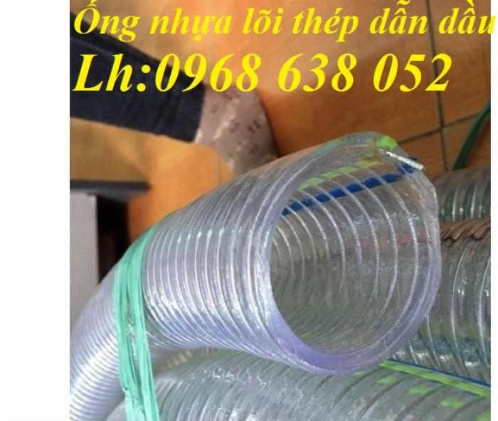 Ống PVC lõi thép(kẽm) hút hóa chất D20, D25, D27, D32, D34, D38, D40, D42, D48, D50, D60, D76, D9015