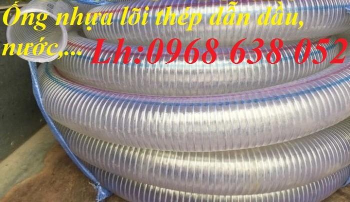 Ống PVC lõi thép(kẽm) hút hóa chất D20, D25, D27, D32, D34, D38, D40, D42, D48, D50, D60, D76, D9014