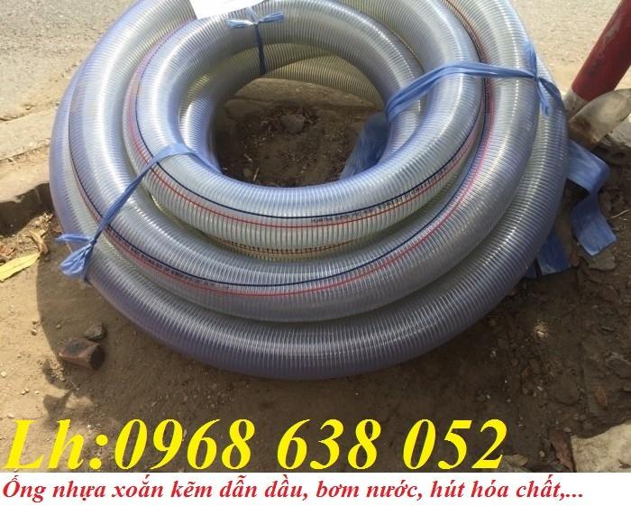 Ống PVC lõi thép(kẽm) hút hóa chất D20, D25, D27, D32, D34, D38, D40, D42, D48, D50, D60, D76, D9012