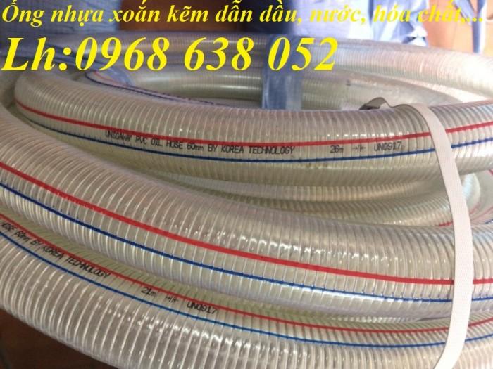 Ống PVC lõi thép(kẽm) hút hóa chất D20, D25, D27, D32, D34, D38, D40, D42, D48, D50, D60, D76, D909