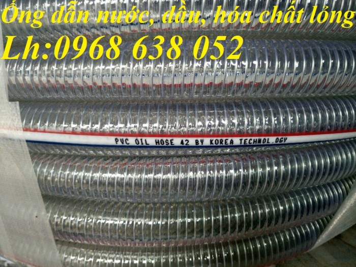 Ống PVC lõi thép(kẽm) hút hóa chất D20, D25, D27, D32, D34, D38, D40, D42, D48, D50, D60, D76, D904