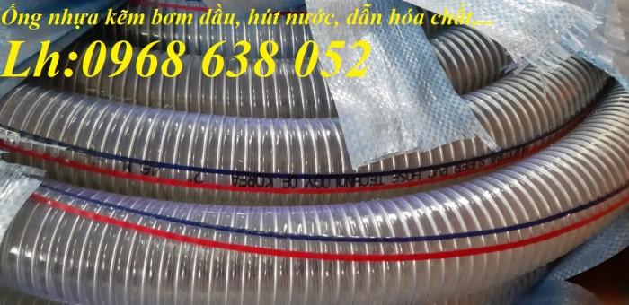 Ống PVC lõi thép(kẽm) hút hóa chất D20, D25, D27, D32, D34, D38, D40, D42, D48, D50, D60, D76, D906