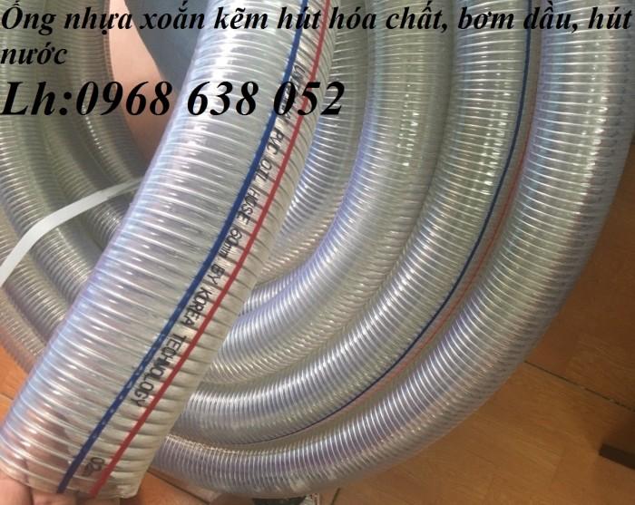Ống PVC lõi thép(kẽm) hút hóa chất D20, D25, D27, D32, D34, D38, D40, D42, D48, D50, D60, D76, D902