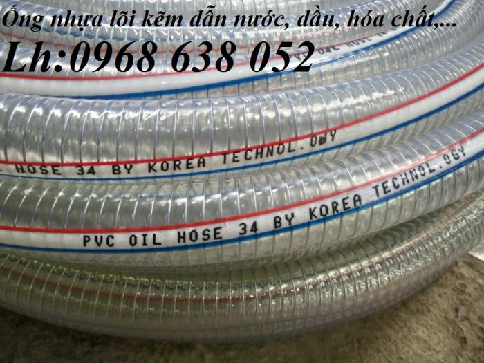 Ống PVC lõi thép(kẽm) hút hóa chất D20, D25, D27, D32, D34, D38, D40, D42, D48, D50, D60, D76, D901