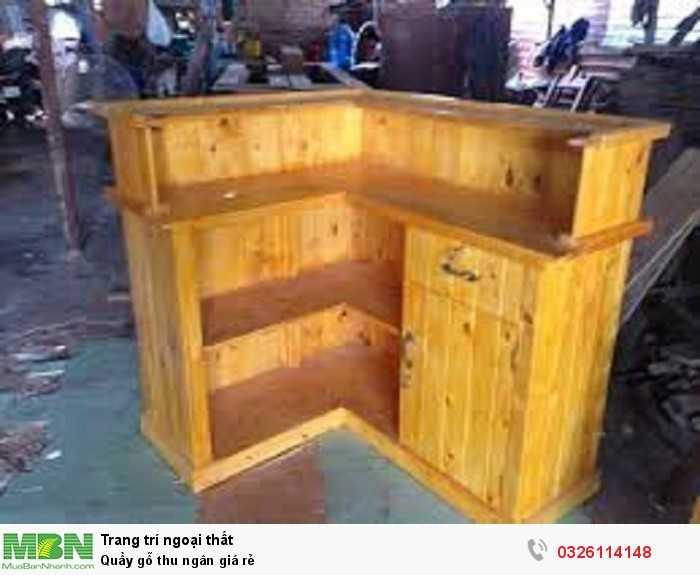 Quầy gỗ thu ngân giá rẻ0