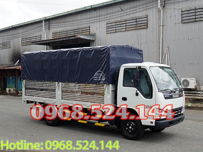 Xe tải isuzu thùng bạt 1t4 1t9 2t4 đời 2018, trả trước 60 triệu.