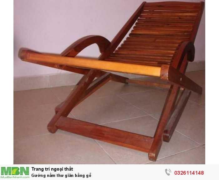 Gường nằm thư giãn bằng gỗ