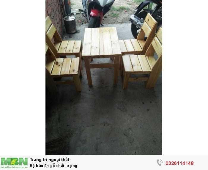 Bộ bàn ăn gỗ chất lượng