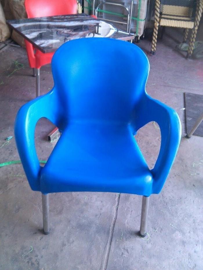 Bàn ghế nhựa đúc  giá rẻ tại xưởng sản xuất HGH000370