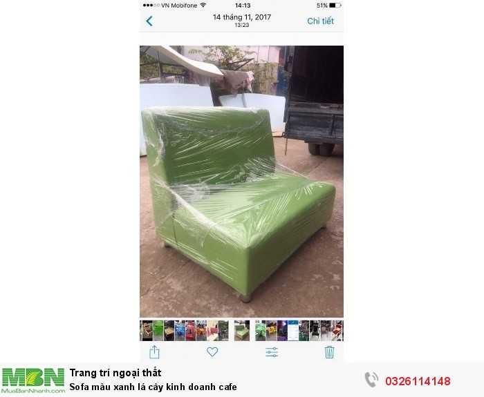 Sofa màu xanh lá cây kinh doanh cafe