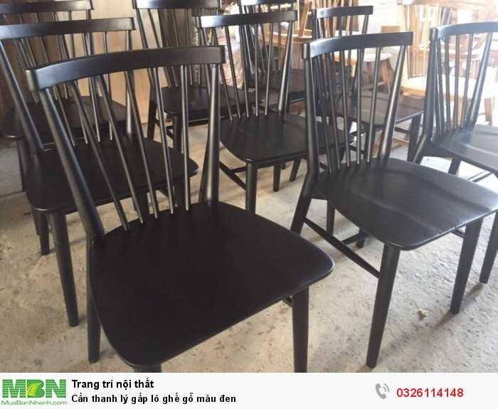 Cần thanh lý gấp lô ghế gỗ màu đen0