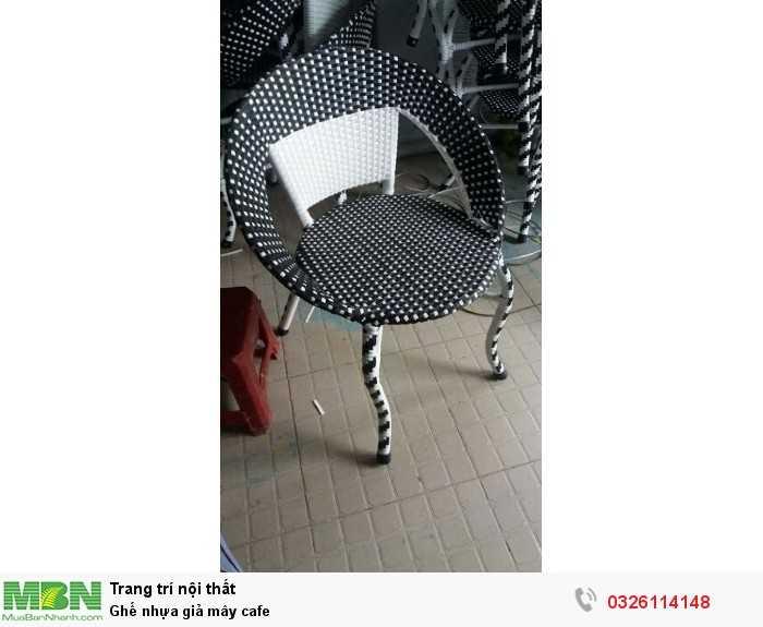 Ghế nhựa giả mây cafe2