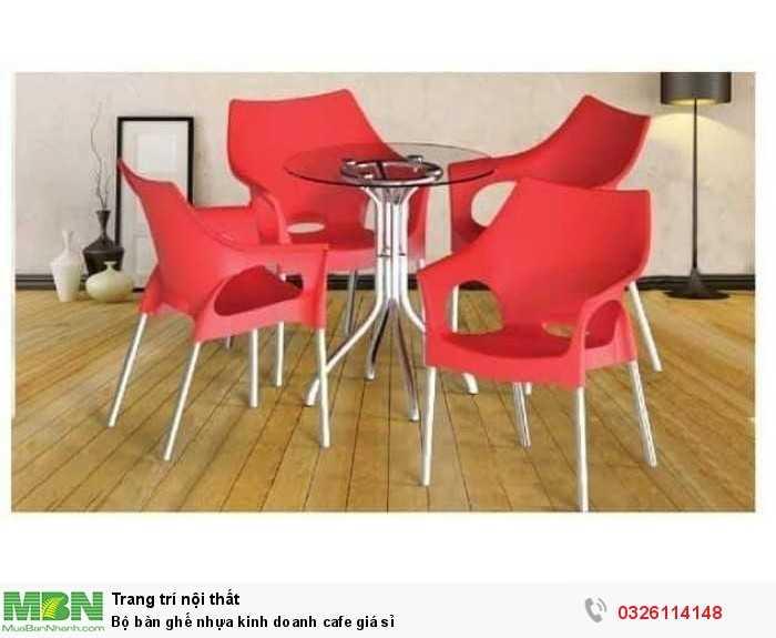 Bộ bàn ghế nhựa kinh doanh cafe giá sỉ