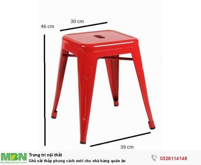 Ghế sắt thấp phong cách mới cho nhà hàng quán ăn0