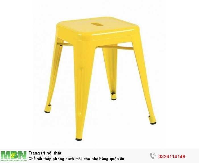 Ghế sắt thấp phong cách mới cho nhà hàng quán ăn1