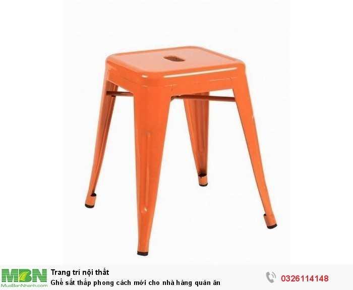 Ghế sắt thấp phong cách mới cho nhà hàng quán ăn2