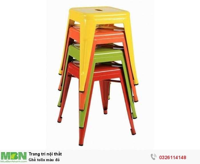 Ghế tolix màu đỏ0