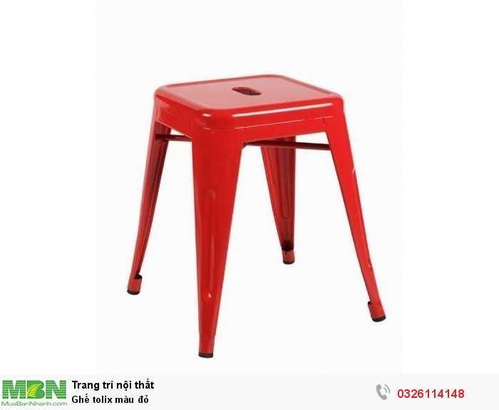 Ghế tolix màu đỏ2