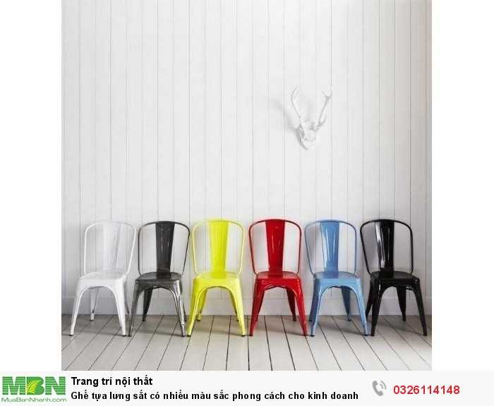 Ghế tựa lưng sắt có nhiều màu sắc phong cách cho kinh doanh1