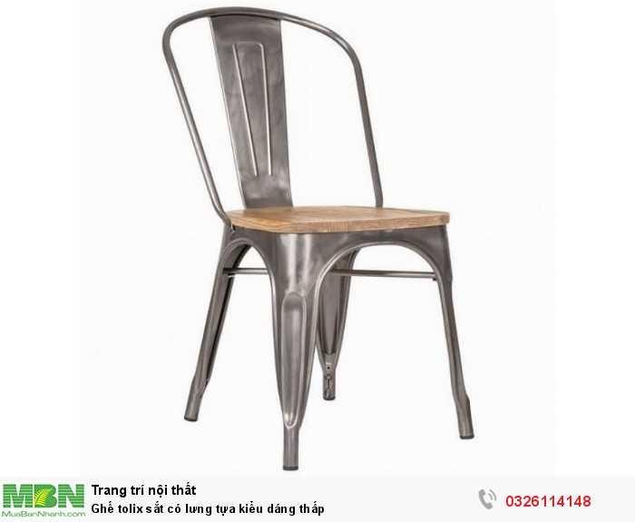 Ghế tolix sắt có lưng tựa kiểu dáng thấp0