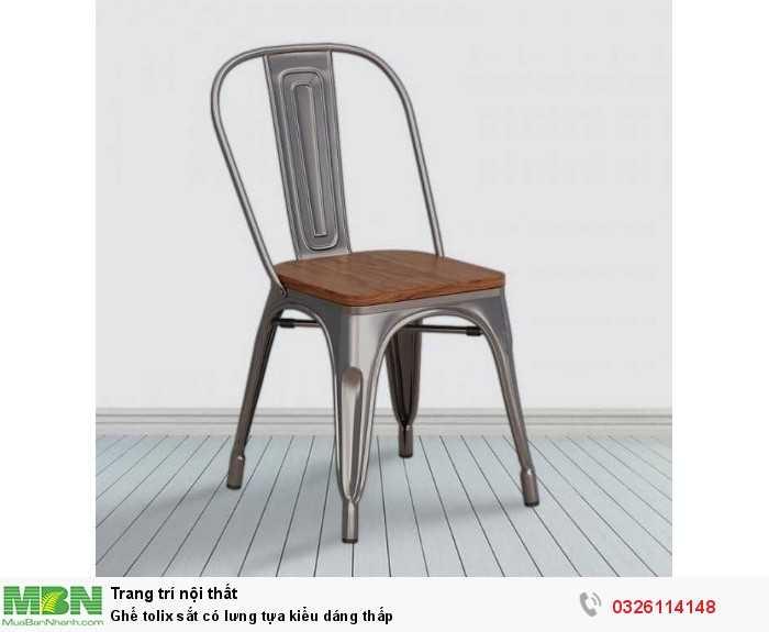 Ghế tolix sắt có lưng tựa kiểu dáng thấp1