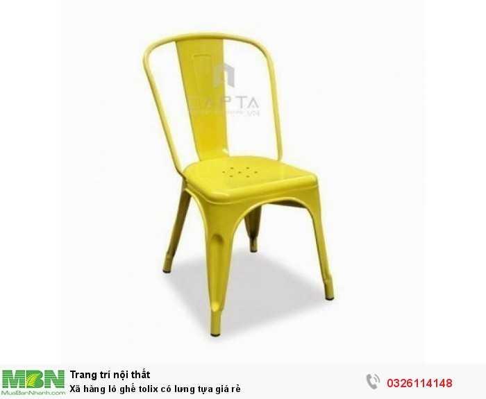 Xã hàng lô ghế tolix có lưng tựa giá rẻ0