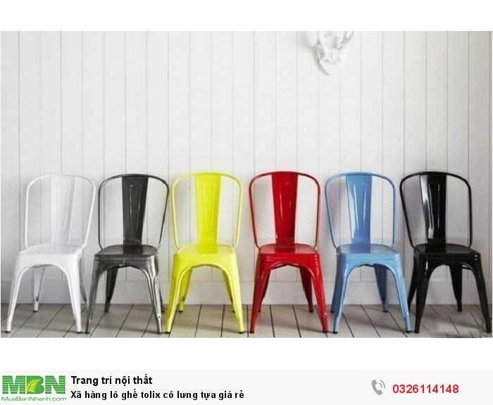Xã hàng lô ghế tolix có lưng tựa giá rẻ1