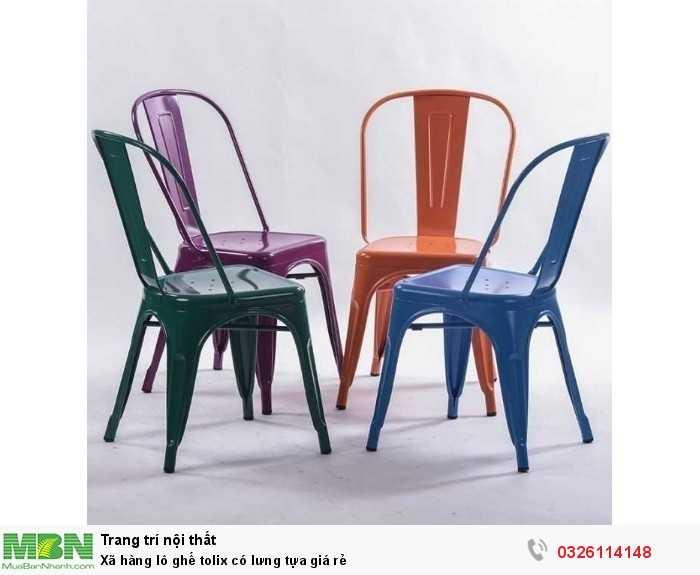 Xã hàng lô ghế tolix có lưng tựa giá rẻ2