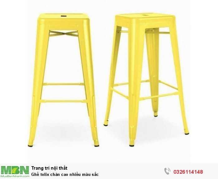 Ghế tolix chân cao nhiều màu sắc2
