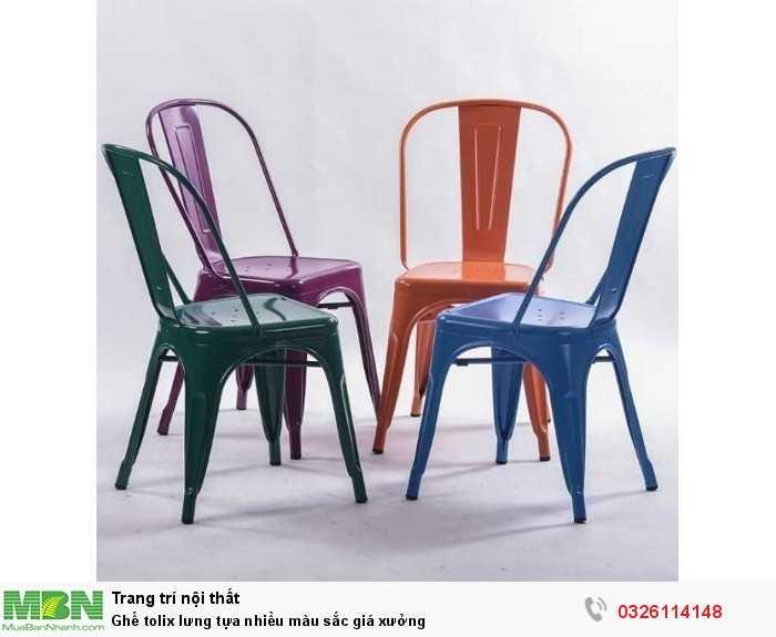 Ghế tolix lưng tựa nhiều màu sắc giá xưởng0