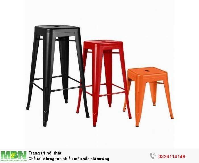 Ghế tolix lưng tựa nhiều màu sắc giá xưởng1