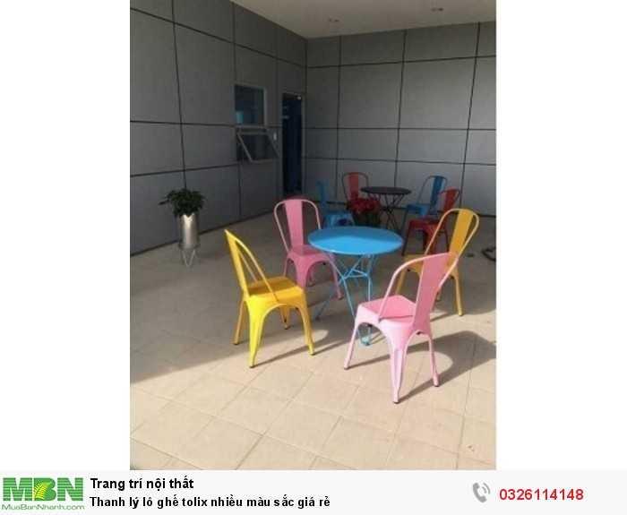 Thanh lý lô ghế tolix nhiều màu sắc giá rẻ0