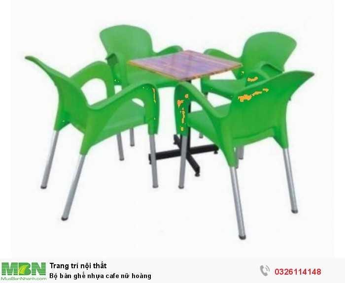 Bộ bàn ghế nhựa cafe nữ hoàng0