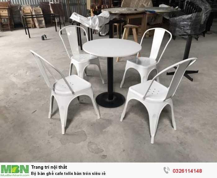 Bộ bàn ghế cafe tolix bàn tròn siêu rẻ0