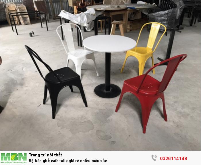 Bộ bàn ghế cafe tolix giá rẻ nhiều màu sắc0