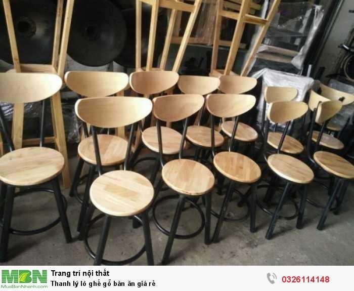 Thanh lý lô ghế gỗ bàn ăn giá rẻ0