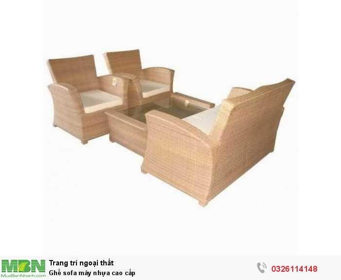 Ghế sofa mây nhựa cao cấp
