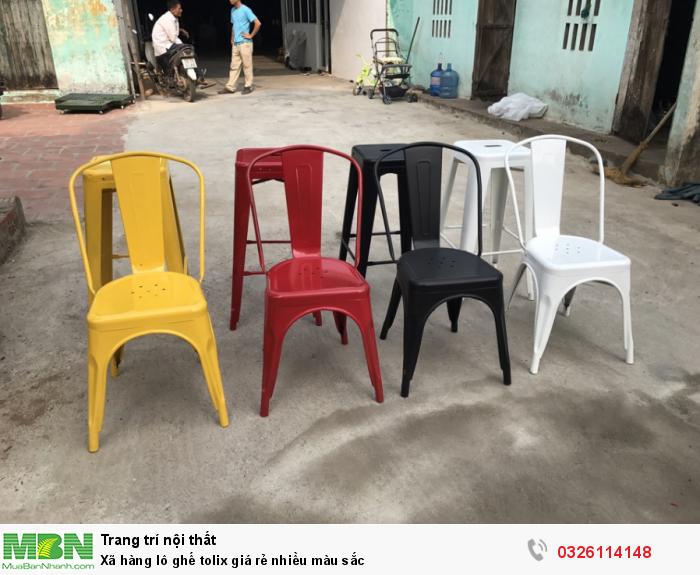 Xã hàng lô ghế tolix giá rẻ nhiều màu sắc0