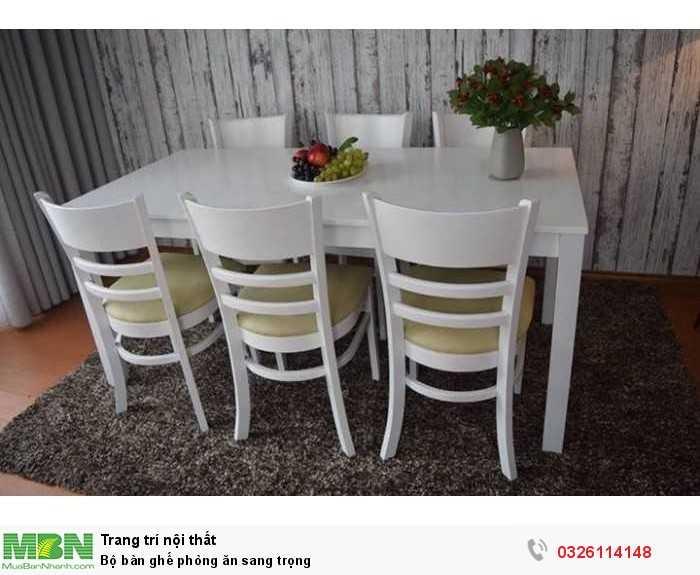 Bộ bàn ghế phòng ăn sang trọng