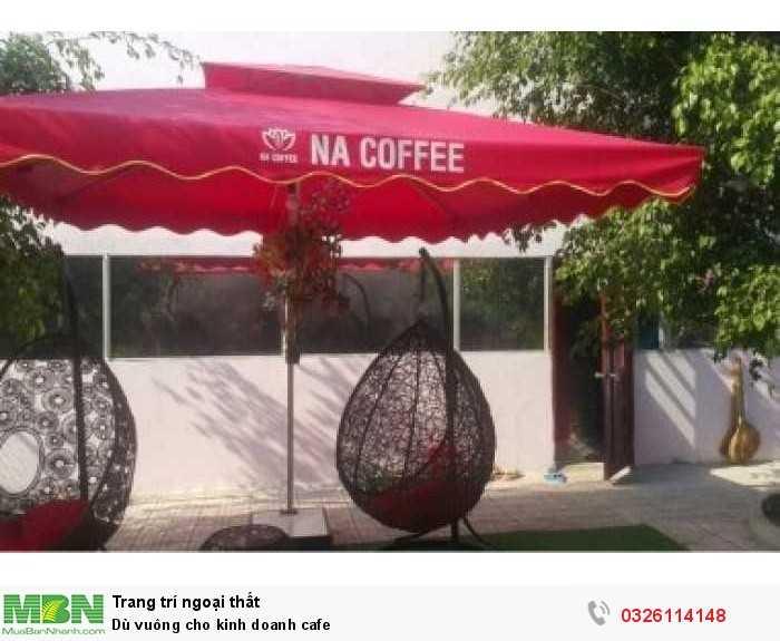 Dù vuông cho kinh doanh cafe0
