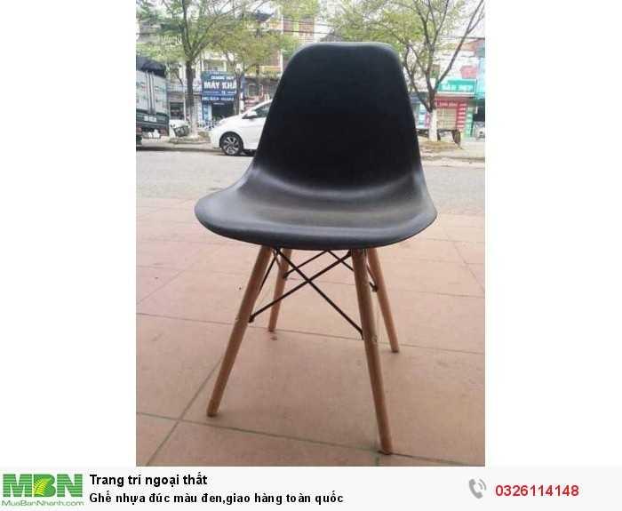 Ghế nhựa đúc màu đen,giao hàng toàn quốc