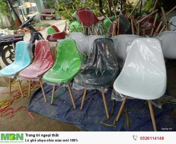 Lô ghế  nhựa nhìu màu mới 100%0
