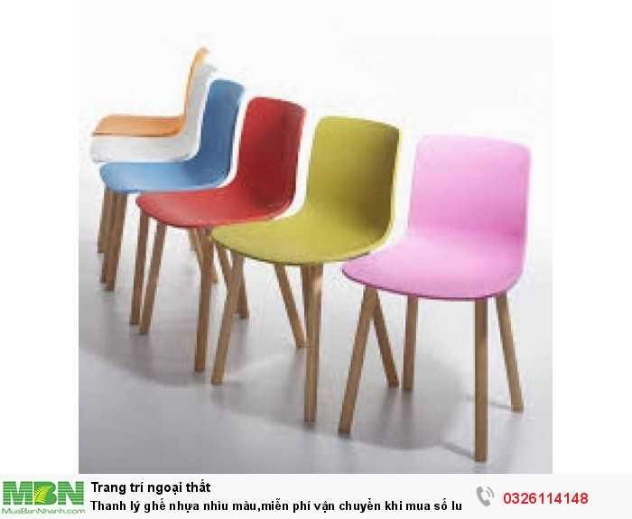 Thanh lý ghế nhựa nhìu màu,miễn phí vận chuyển khi mua số lượng lớn